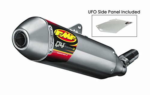 FMF Racing Q4 Aluminum/Steel Spark Arrestor Slip-On Exhaust for Yamaha 2008-15 ()