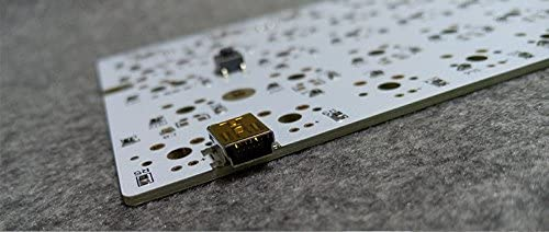Satan GH60 PCB White Board Flashed Firmware DIY Mechanical Keyboard Poker 2 Pure HHKB with Diode Resistance Support LED