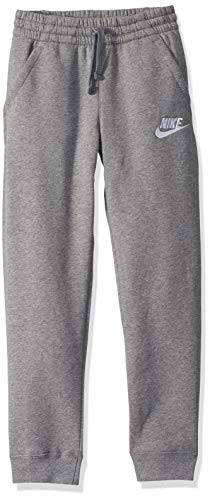 Nike Boy's NSW Club Jogger Fleece Pant, Carbon Heather/Cool Grey/White, Small (Girls Nike Sweatpants)
