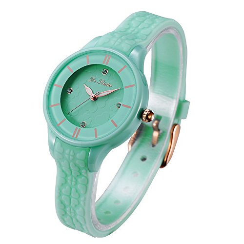 DR8986 Women Watches Silicone Strap Plastic Wristwatch for Ladies Waterproof Wrist Watch for Girls