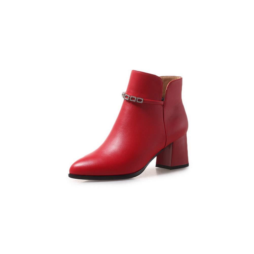 Aimint EZR00592, Damen Durchgängies Plateau Sandalen mit Keilabsatz, Rot - rot - Größe  EU 36