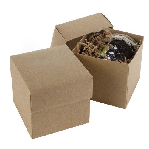 Hortense B Hewitt 2-Piece Kraft Paper Cupcake Box, 25-Pack