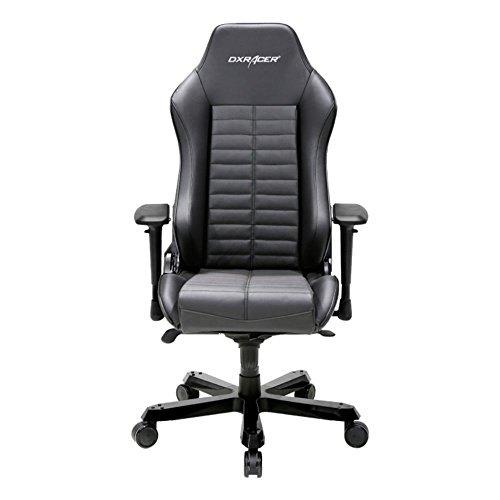 41Ab DXlxaL - DXRacer-OHIS188N-Black-Full-Grain-Leather-Iron-Series-Gaming-Chair