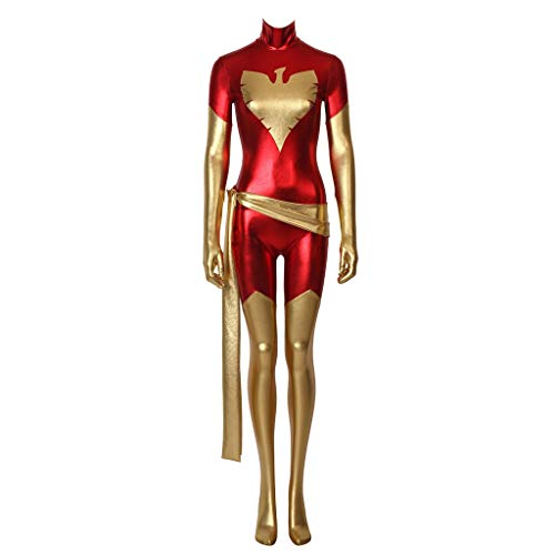 CosplayDiy Women's Suit for Dark Phoenix Jean Grey Cosplay Costume Red S -