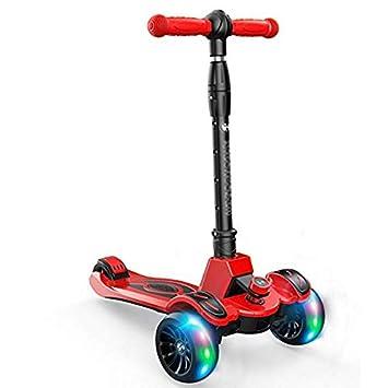 Amazon.com: KYX-GAOMOUREN - Patinete de 3 ruedas para niños ...