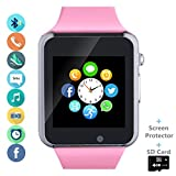 Smartwatch Smart Watch Phone with SD Card Camera Pedometer Text Call Notification SIM Card Slot Music Player Compatible for Android Samsung LG Huawei and IPhone (Partial Functions) for Women Girl Kids