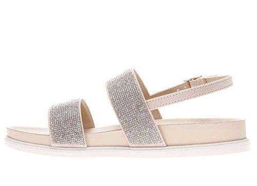 LIU JO sandalias planas de las mujeres S17071 T9245 SANDALO PLANTILLA NAO NEGRO Biege