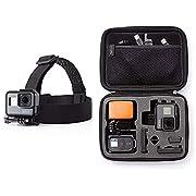 Amazon Basics Kopfgurt für GoPro Actionkamera & Tragetasche für GoPro Actionkameras, Gr. XS