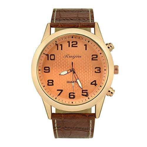 Guartz Watches for Men Digital Under 10 Dollars ❤ Fashion Leather Men's Quartz Watch Men's Watch Luxury Casual Watch Clock ()