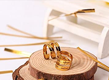 2400 Piezas 10cm Met/álico Lazos de Torcedura Alambre Met/álico Decorativo Precintos Met/álicos Giro Lazos de Pan de Corbatas para Bolsa de Dulce Caramelo