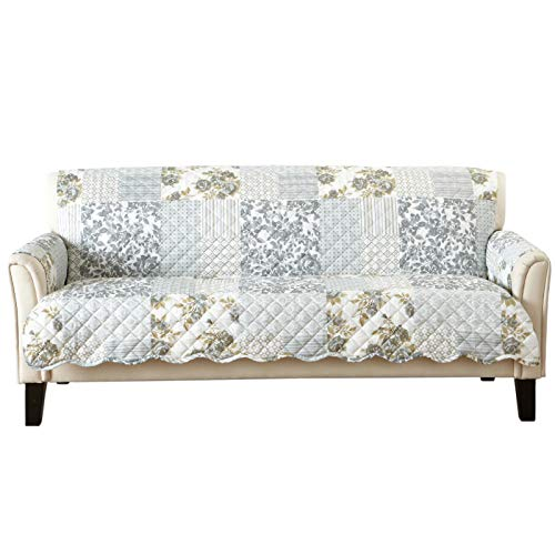Great Bay Home Patchwork Scalloped Stain Resistant Printed Furniture Protector Brand. (Sofa, ()