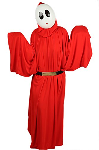 xcoser Shy Guy Mask and Costume Cloak Outfit Suit for Halloween Cosplay XL -