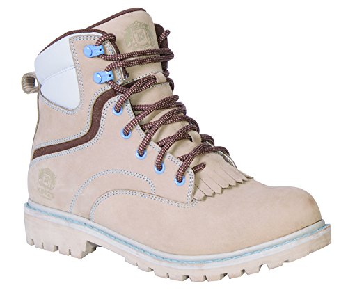 "KING'S 6"" Leather Steel Toe Women's Work Boots with Goody..."