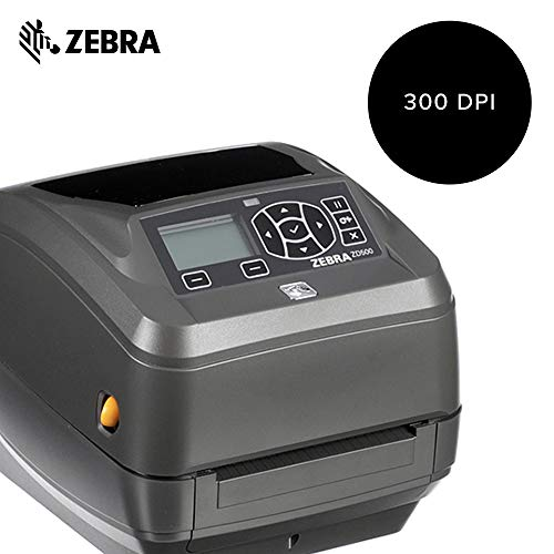 Zebra - ZD500t Thermal Transfer Desktop Printer for Labels and Barcodes - Print Width 4 in - 300 dpi - Interface: Ethernet, Parallel, Serial, USB - ZD50043-T01200FZ by Zebra Technologies (Image #1)