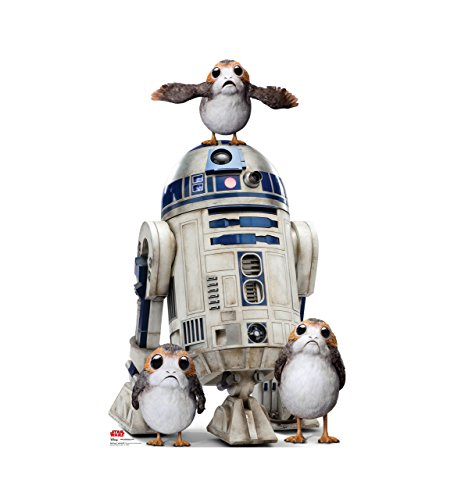 Porgs with R2-D2 - Star Wars: Episode VIII - The Last Jedi (2017 Film) - Advanced Graphics Life Size Cardboard Standup