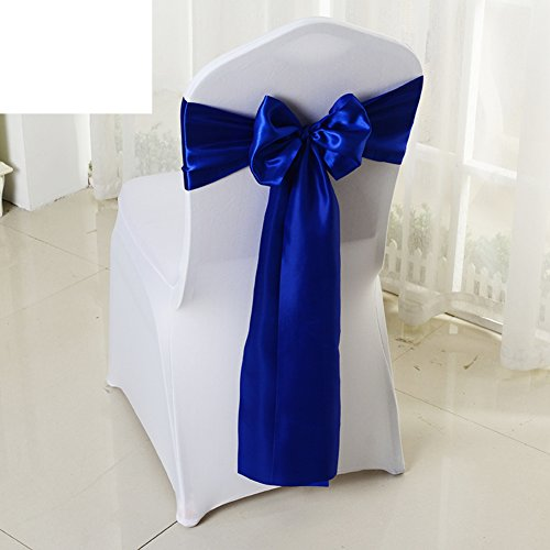 Wedding chair back cover/decorative streamers/bow ribbon-M by WXTFQB