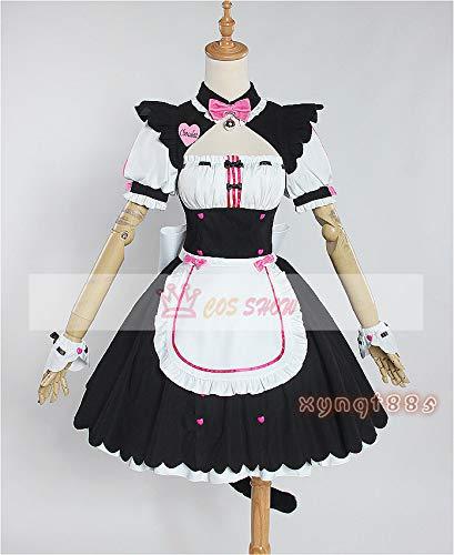 【Cos-Show】 NEKOPARA ネコぱら ショコラ風 メイド服 コスプレ衣装 仮装 ハロウィン イベント   B07GZ1TGRF