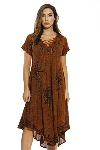 - Riviera Sun 21726-RUST-XL Dress/Dresses for Women