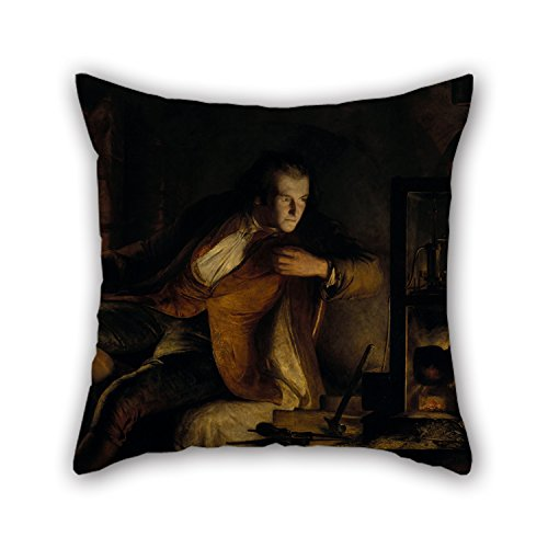 Slimmingpiggy Pillowcover Of Oil Painting James Eckford Lauder - James Watt And The Steam Engine- The Dawn Of The Nineteenth Century,for Coffee House,couch,home Theater,husband,gf,son 20 X 20 Inche (My Devil Gf)