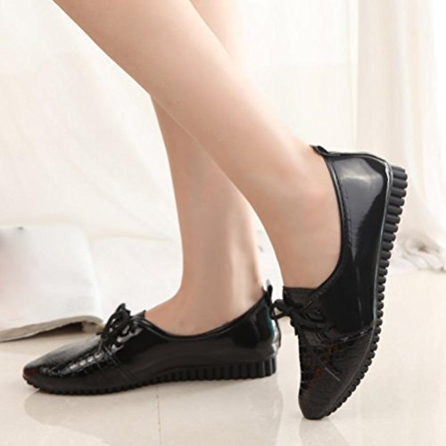 Clode® Women Ladies Slip On Comfort Shoes Flat Loafers Shoes Spring Summer Shoes Black Q9sbc