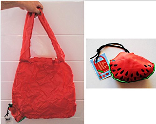 SAC SHOPPING PLIABLE PASTEQUE ROUGE SAC DE COURSE PLAGE 40 X 58 CM