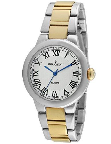 (Peugeot Women's 'Silver' Quartz Metal and Alloy Dress Watch, Color:Two Tone (Model: 7086TT))