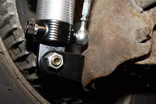 Spohn LSM-125-SBS-500 No Bind Lower Rear Shock Relocation Mounting Brackets with Shock Bolt Sleeves