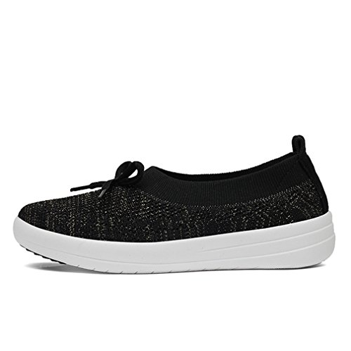 XMeden Women's Sneakers Fit Mesh Slip-on Style Walking Shoes with Memory Foam Insoles- Breathable Mesh - Durable Soles - Reliable Traction - Perfect for Walks and Jogs Black 0ewGg7r70