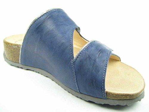 THINK! Damen Pantolette MIZZI 86365-84 jeans/kombi jeans/kombi