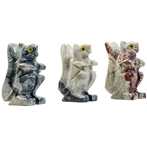 Digging Dolls : 10 pcs Artisan Squirrel Collectable Animal Figurine - Party Favors, Stocking Stuffers, Gifts, Collecting and More! by Digging Dolls