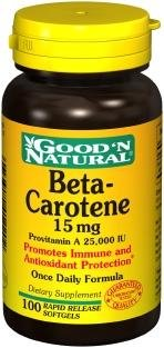 Beta-Carotene 15 mg 100 Softgels