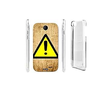FUNDA CARCASA EFECTO MADERA ATTENZIONE CARTELLO PARA HTC DESIRE 310