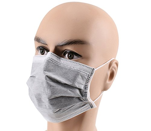 50 Pcs Disposable Anti Dust Breathable Charcoal Activated Ca