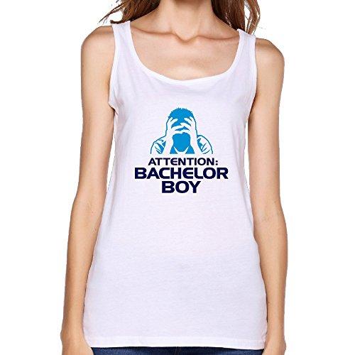 NOAC Women Attention Bachelor Boy Symbol Tank-Tops T Shirt