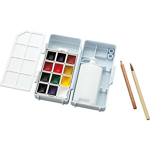Kuretake Watercolor Art Painting Compact Box Set 12, used for sale  Delivered anywhere in USA