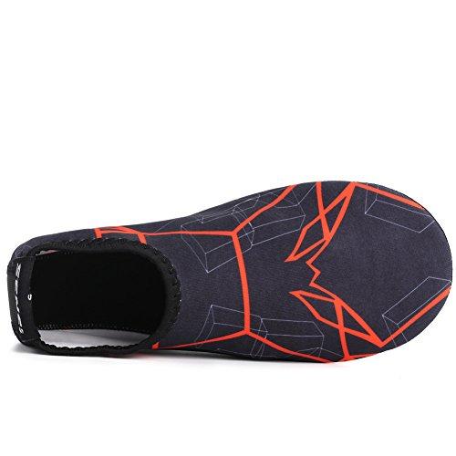 SENFI Unisex Water Skin Shoes Barefoot Aqua Socks For Pool Water Aerobics Exercise 02orange hOh2Ultv