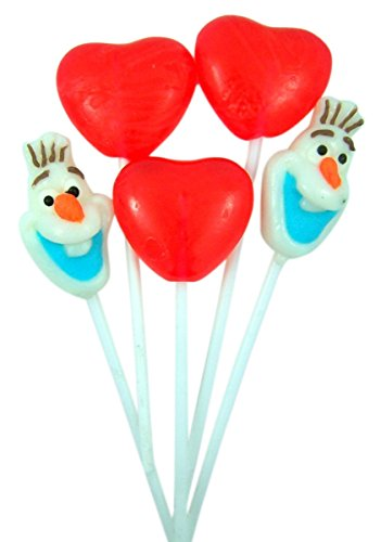 Disney Frozen Valentines Day Olaf Heart Lollipop Bouquet, 1.41 oz