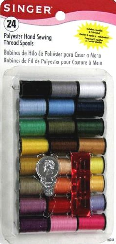 Singer Polyester Thread, Assorted Colors, 24 Spools