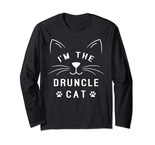 I'm The Druncle Cat - Drunk Uncle - Family Halloween Cat Long Sleeve T-Shirt -