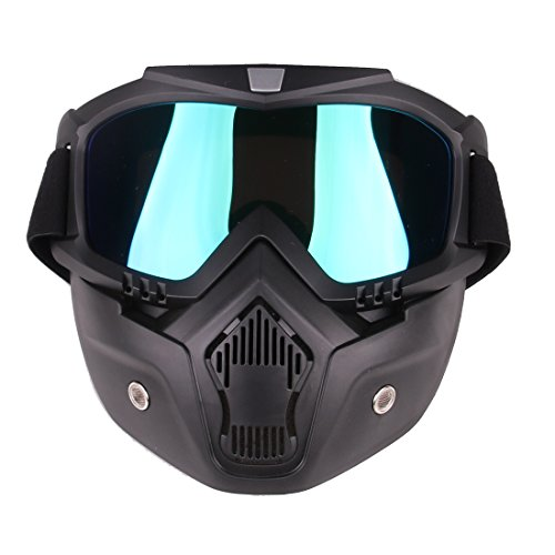 Tactical Airsoft Masks, PeleusTech Tactical Mask Soft Bullet Dart Protective Mirror Face Mask for Nerf - (Airsoft Full Face Mask)