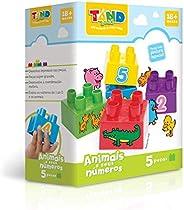 Tand Baby Animais e Seus Números 5 Peças Toyster Brinquedos