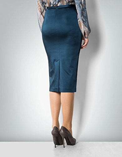 Daniel Hechter Damen Rock Mikrofaser Skirt Unifarben, Größe: 36, Farbe: Blau