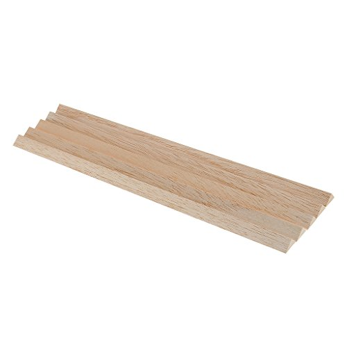 Jili Online 5 Pieces Natural Balsa Wood Sticks Triangle for Airplane Boat Modeling DIY Hobby Crafts Woodworking 8x12mm - Balsa Triangle