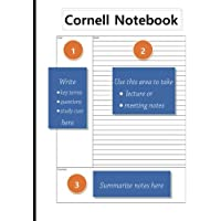 Cornell Notebook: 8.5 x 11, Student Notebook, For Note Taking, For Lecture and Meetings, 100 pages,