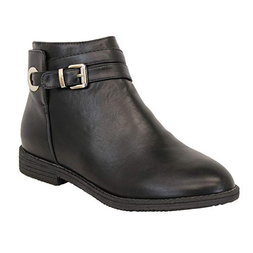 Femmes Enfiler Chelsea Ws Shoes Hiver À Motard Bottines Bottes Noir Allure Cuir Chaussures Fd92 qwxtwE4S0