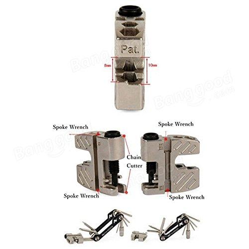 Bazaar Sahoo 17 en 1 vélo outil clé des outils de réparation de vélos multifonctions