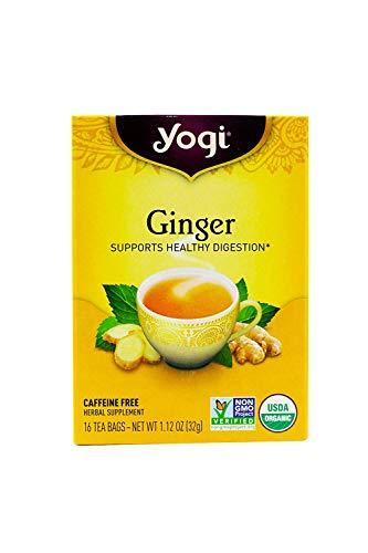 Yogi Tea Ginger, Herbal Supplement, Tea Bags, 16 ct (Pack of 2)