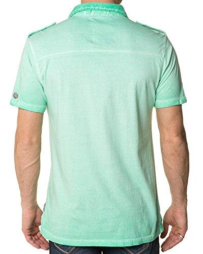 Mzgz - Polo-Shirt Pastellgrün Washed - Size: M, Color: Grün