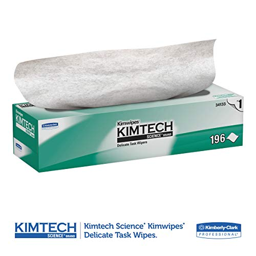 Kimtech 34133 Kimwipes Delicate Task Wipers 1Ply 11 45 x 11 45 196 per Box Case of 15 Boxes