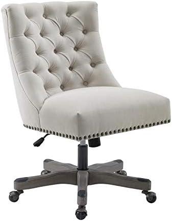Linon Tevan Office Chair Beige